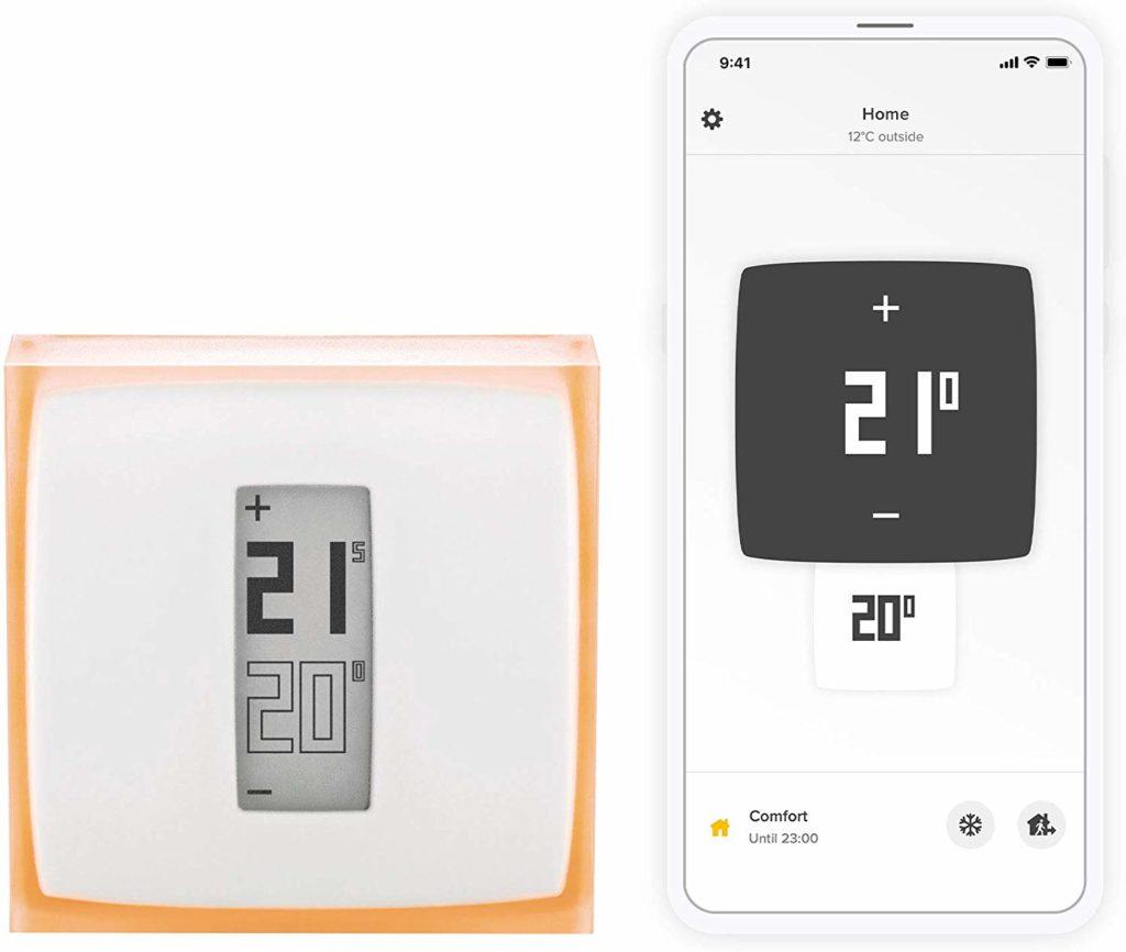 Le thermostat connecté Netatmo NTH01-FR-EC